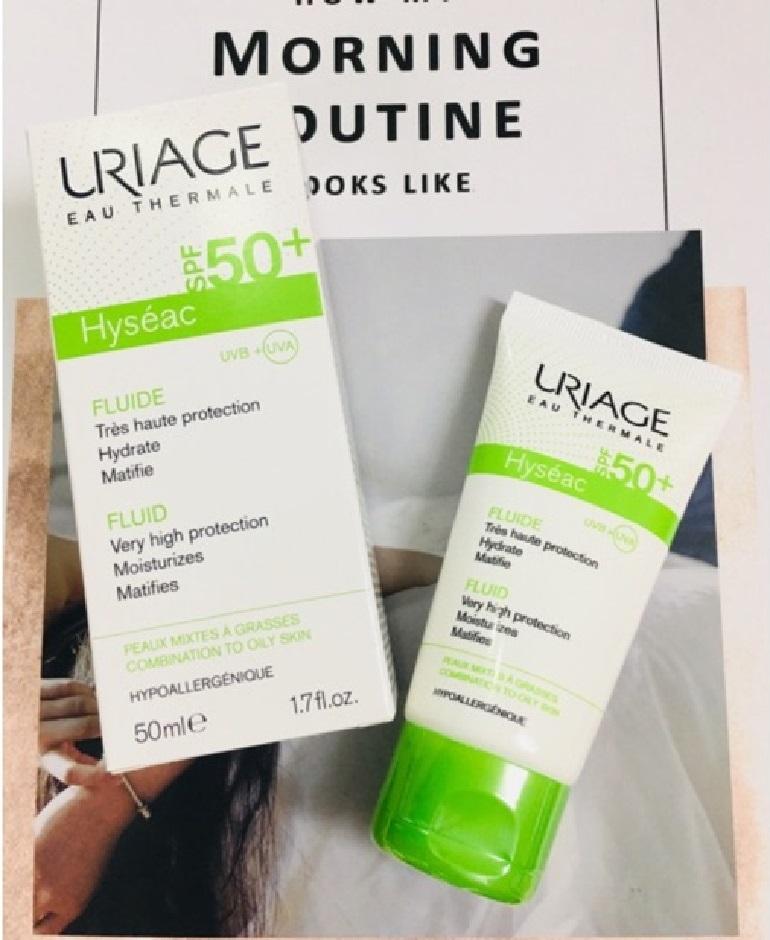 Review kem chống nắng Uriage dành cho da dầu và da mụn