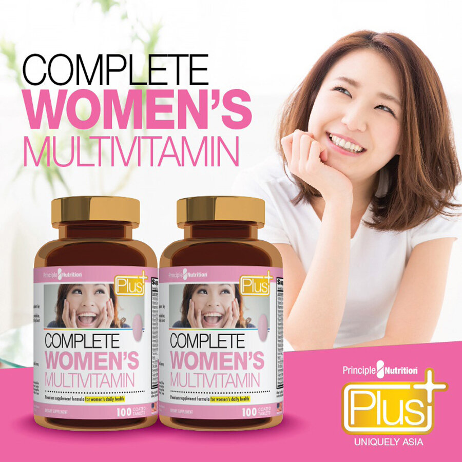 Principle Nutrition Complete Women's Multivitamin hỗ trợ vitamin cho phụ nữ