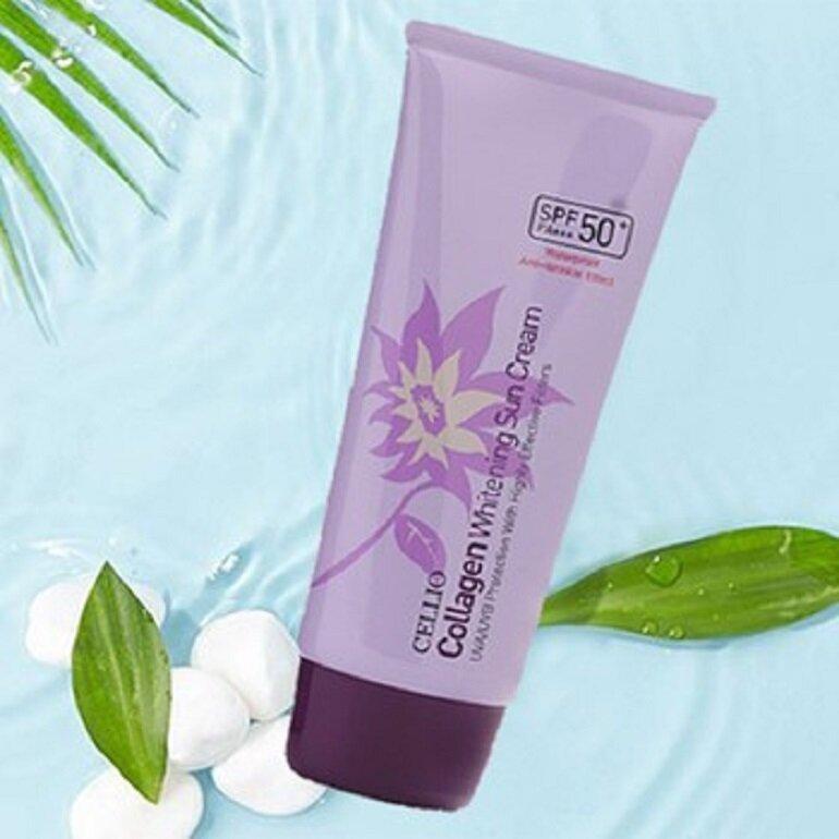 Kem chống nắng trắng da Collagen Whitening sun cream SPF50 PA++