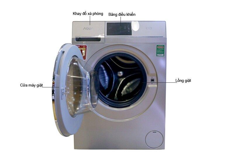 Máy giặt sấy Aqua Inverter 10.5Kg cho không gian gia đình bạn thêm sang trọng