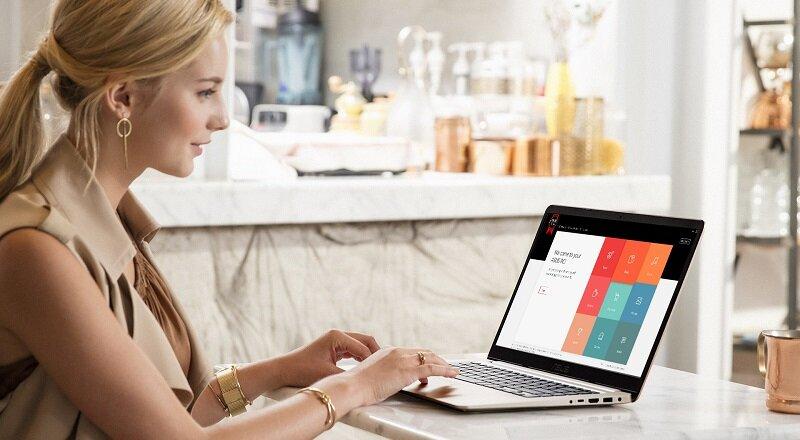 Laptop Asus X554LP cho hình ảnh hiển sắc nét và cho độ tương phản cao