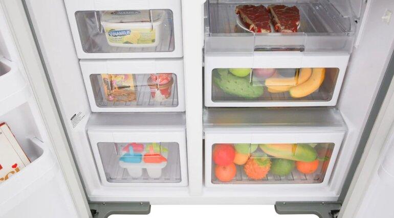 Giá tủ lạnh SBS Hitachi R-M700GPGV2 (GS) - 584 Lít phải chăng
