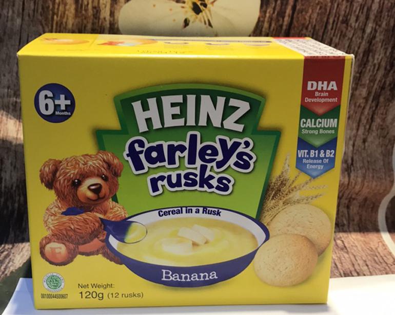 Bánh quy ăn dặm cho trẻ 8 tháng Farley Heinz