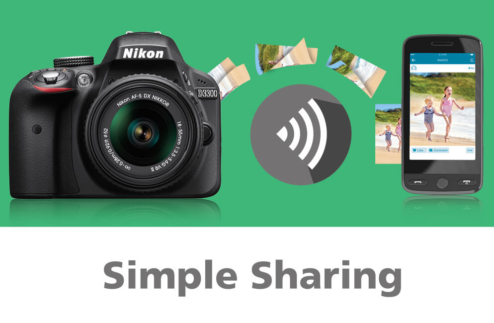 Khả năng kết nối và chia sẻ ảnh sang điện thoại nhanh chóng của Nikon