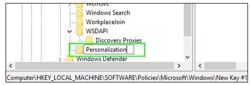 Rename it personalization