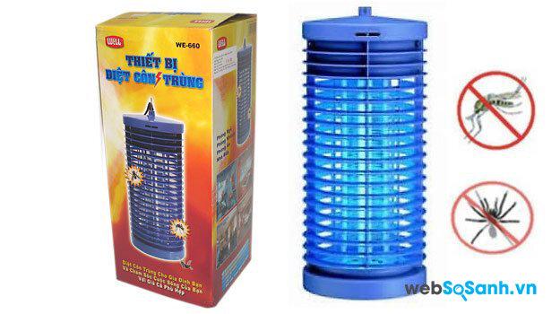 Đèn diệt muỗi kết hợp đèn ngủ rất hiệu quả