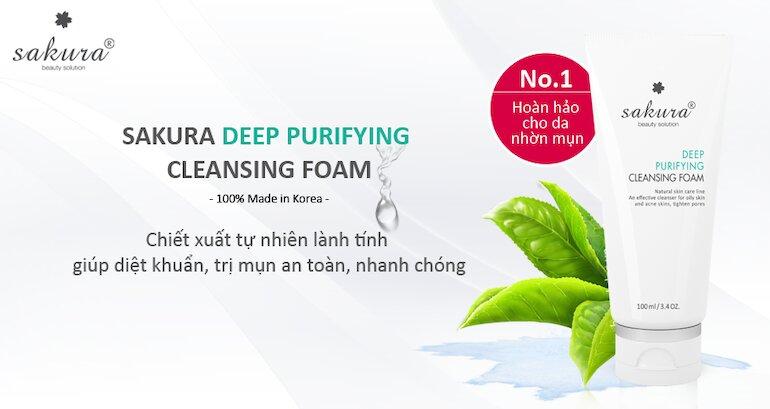 Sữa rửa mặt dành cho da dầu, mụn Deep Purifying Cleansing Foam