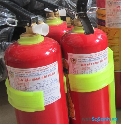 Tem kiểm định bình chữa cháy cần có trên các bình cứu hỏa mini