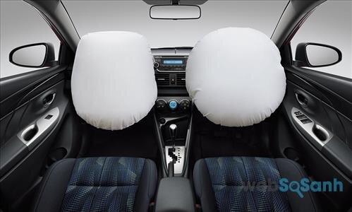 Trang bị túi khí an toàn trên Toyota Vios 2016