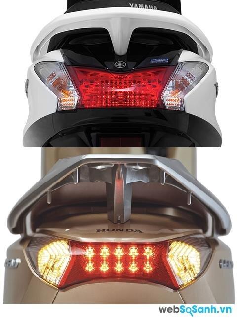 Hệ thống đèn led trên Lead tốt hơn và đẹp mắt hơn của Yamaha Acruzo