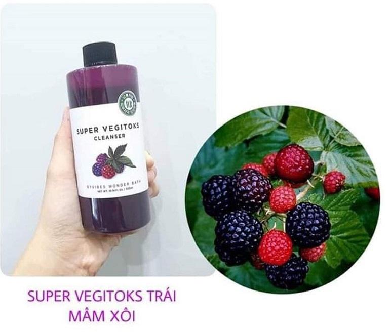 Super Vegitoks Cleanser màu tím giúp săn chắc và làm sáng da