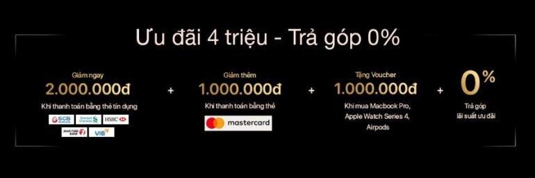 Đặt trước iPhone XS và XS Max ưu đãi 4 triệu đồng, trả góp 0%