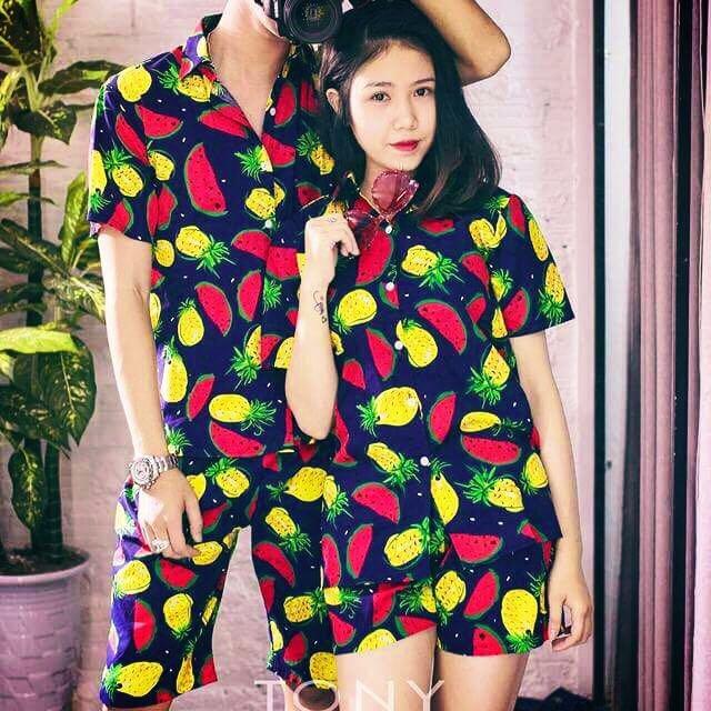 Bộ quần áo hoa quả đi biển