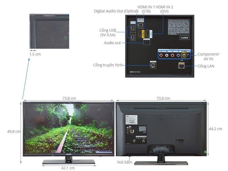 Tivi LED HD Samsung 32 inch 32N4000 là sản phẩm đáng mua trong phân khúc tivi 5 triệu