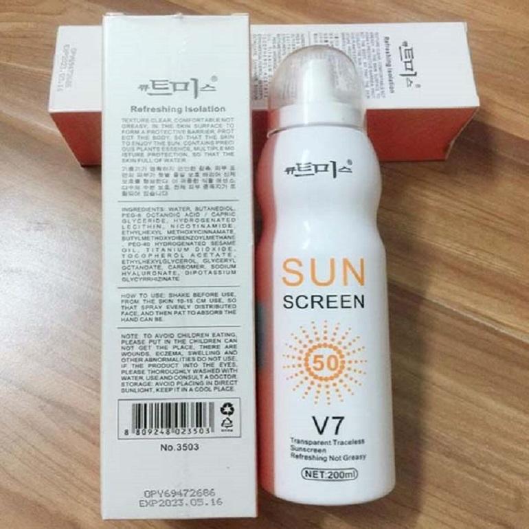 Vì sao nên dùng kem chống nắng V7? Sản phẩm có giá bao nhiêu?