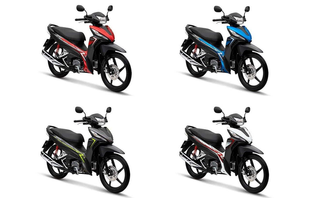 Các màu dòng xe Wave RSX FI 2019 được nhiều người lựa chọn