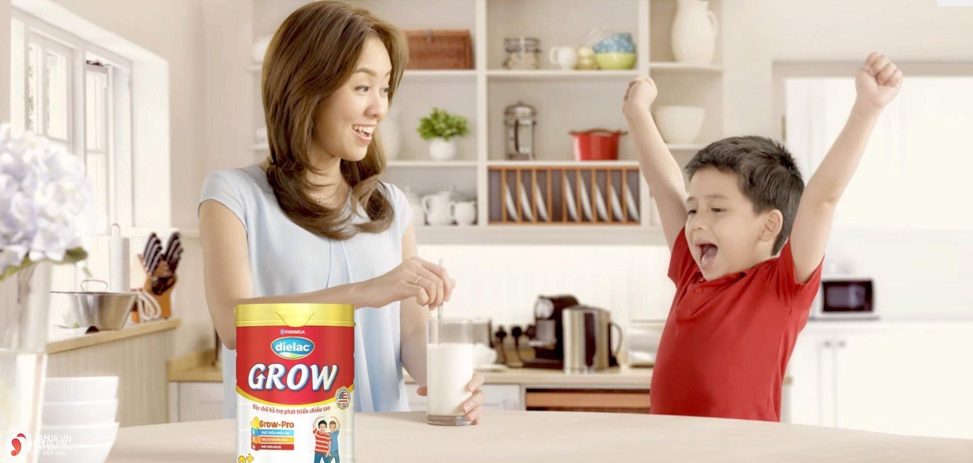 Bổ sung sữa tăng chiều cao cho trẻ