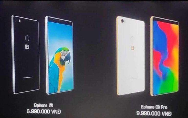 Sản phẩm có mức giá từ 6,99 triệu đồng cho phiên bản Bphone 3 và 9,99 triệu đồng cho phiên bản Bphone 3 Pro.