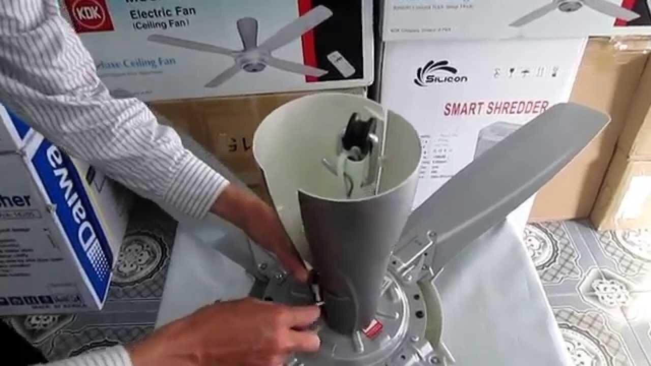 Hướng dẫn cách lắp quạt trần Panasonic đơn giản