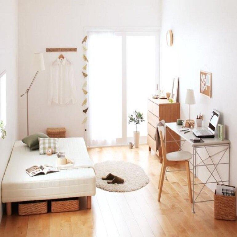 không gian sử dụng nội thất hàn quốc