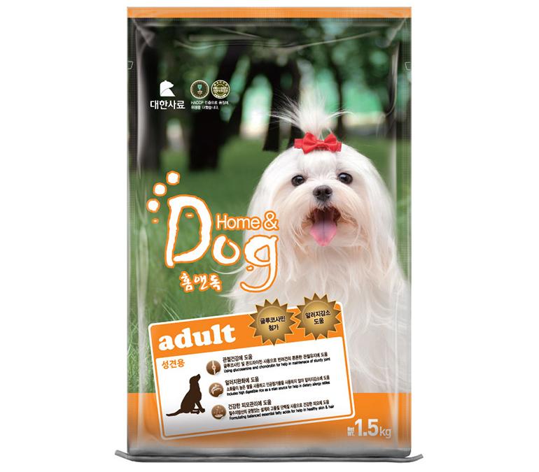 Thức ăn khô cho chó Home Dog giúp tăng cường chuyển hóa cho các chú chó