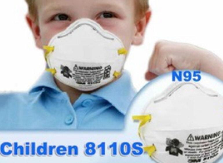 Khẩu trang lọc bụi trẻ em 3M8110s - 301
