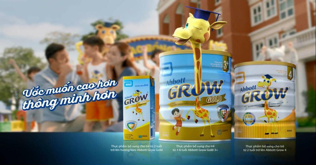 Sản phẩm sữa Abbott Grow giúp bé thông minh hơn, cao lớn hơn