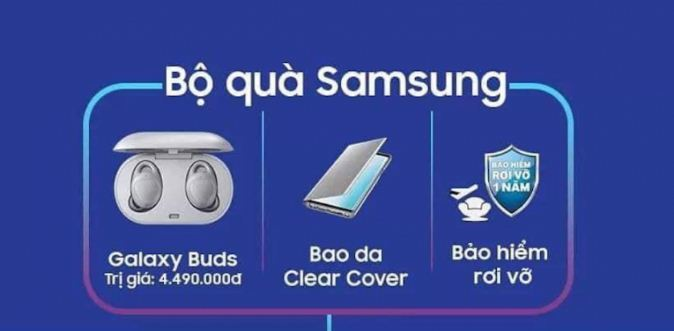 Bộ quà Samsung khi đặt trước các siêu phẩm Galaxy S10 mới