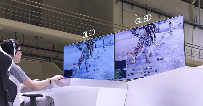 So sánh sự khác biệt giữa tivi OLED và QLED