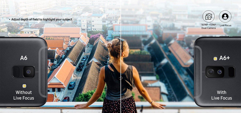 So sánh camera Samsung A6 và A6+