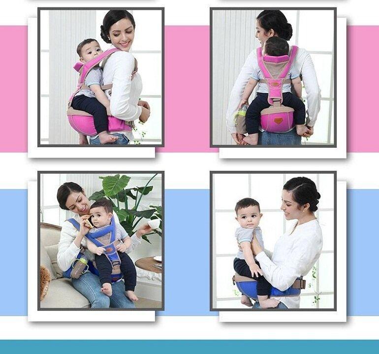 Thời điểm tốt nhất các mẹ nên cho bé sử dụng địu em bé có bệ ngồi là khi được 6 tháng tuổi