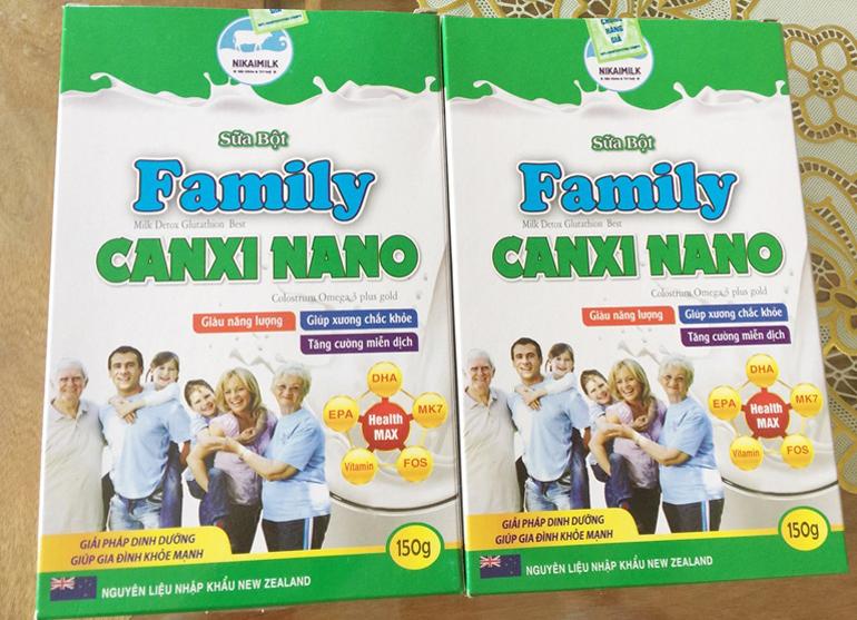 Sữa bột Family Canxi Nano