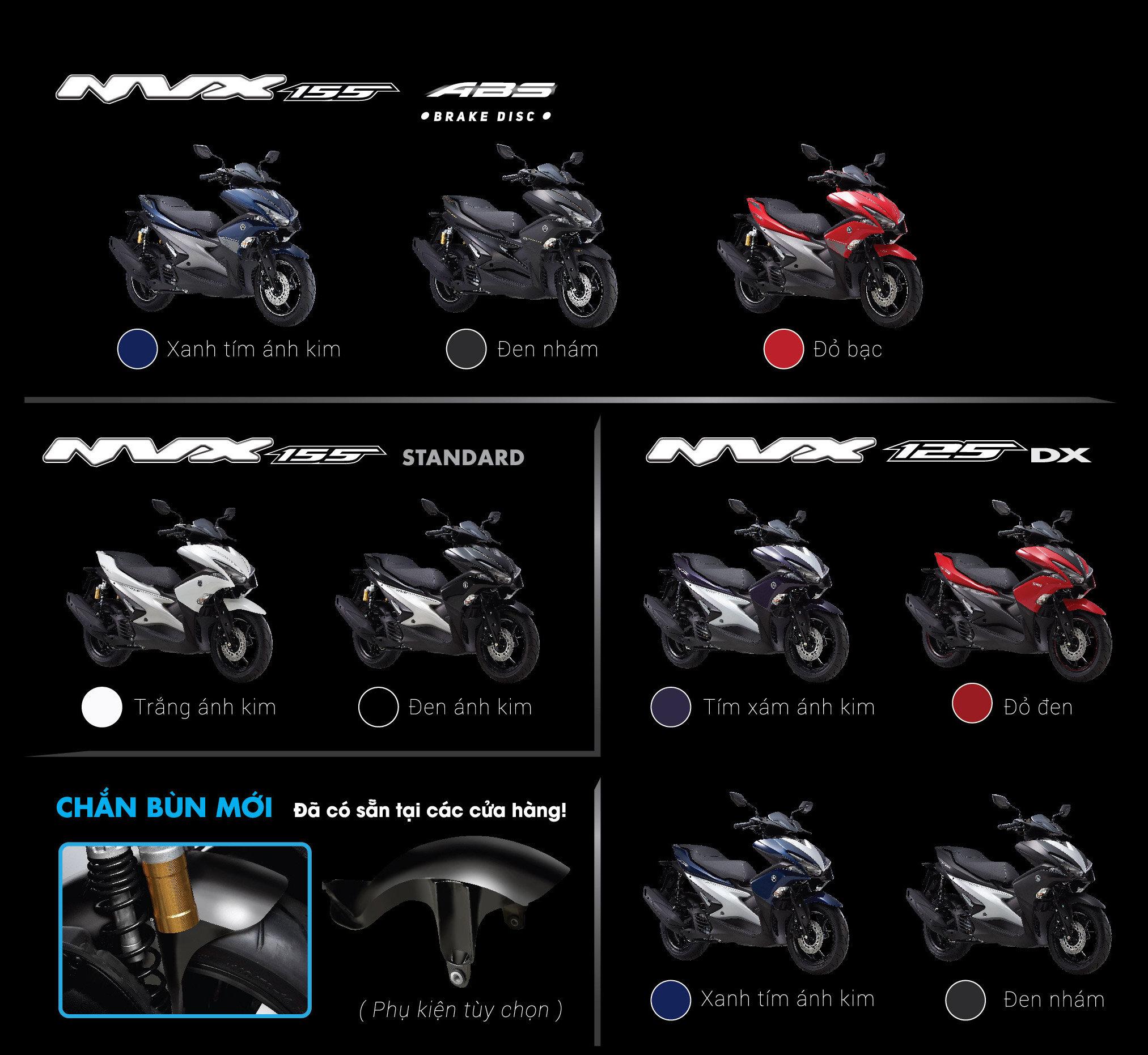 Dòng xe tay ga NVX của thương hiệu nổi tiếng Yamaha