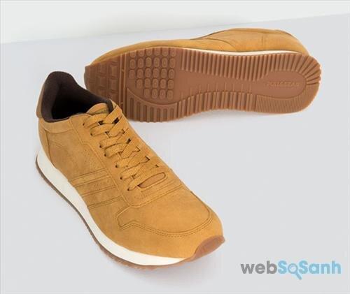 Đôi giày da bò này trông cũng rất phong cách và thời trang nếu so sánh với Biti's Hunter