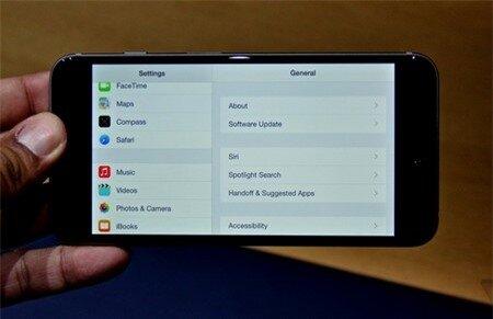 Giao diện ngang tương tự như trên iPad