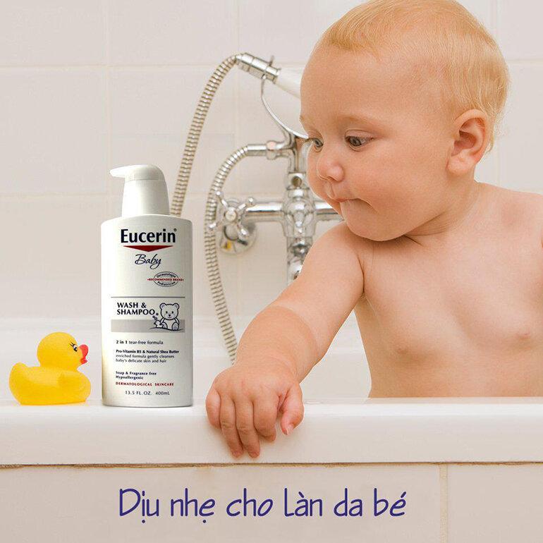 Sữa tắm Eucerin Baby (Nguồn: slatic.net)