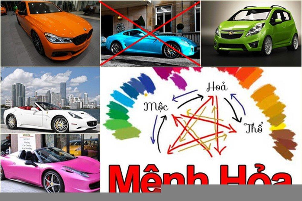 Mệnh Hỏa nên tránh mua xe có màu sắc tương khắc