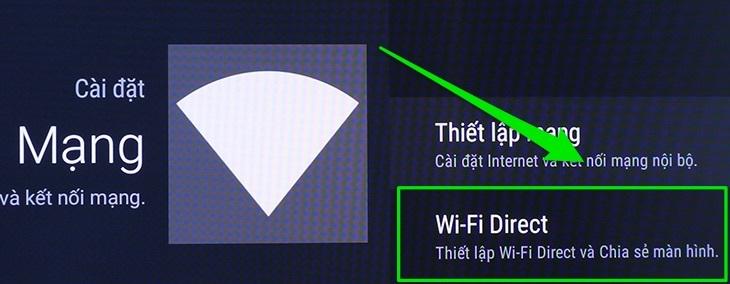 tính năng wifi direct trên tivi