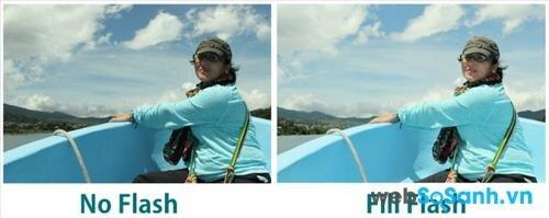 ảnh trước và sau khi sử dụng nguồn sáng thứ hai