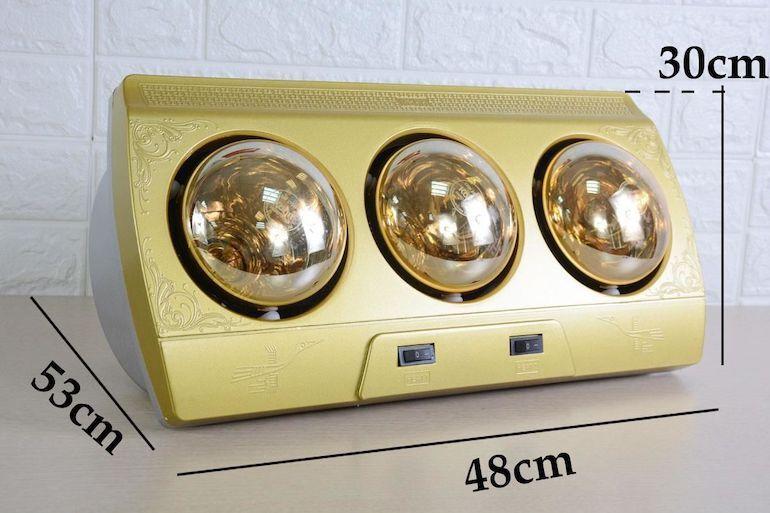 Lưu ý tới nhiệt độ sưởi ấm cho trẻ khi sử dụng đèn sưởi Kohn 3 bóng.