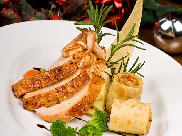 món ăn với lá hương thảo