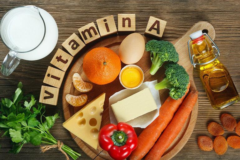 Kết hợp ăn thêm các loại thực phẩm giàu vitamin A