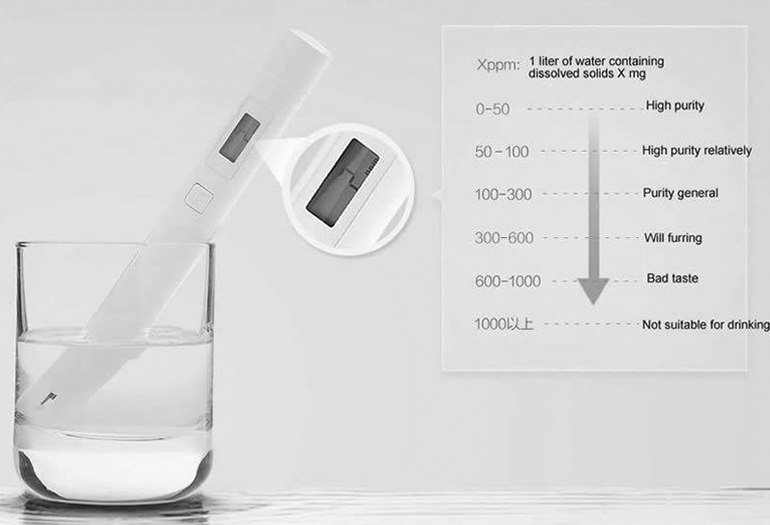 Hướng dẫn đọc các chỉ số hiển thị trên bút thử nước sạch TSD Xiaomi