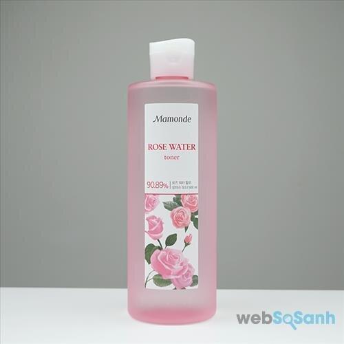 nước hoa hồng mamonde rose water toner review