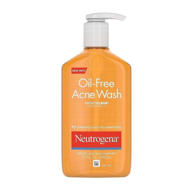 Sữa rửa mặt cho da dầu mụn Neutrogena Oil Free Salicylic Acid Acne Fighting Face Wash - Giá tham khảo khoảng 210.000 vnđ/ chai 269ml