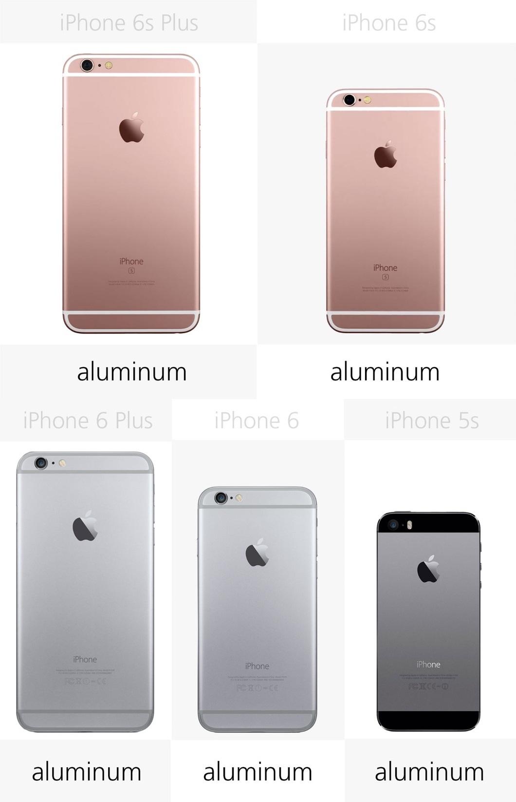 Tất cả 5 mẫu điện thoại iPhone trên đây đều có lớp vỏ nhôm toàn khối