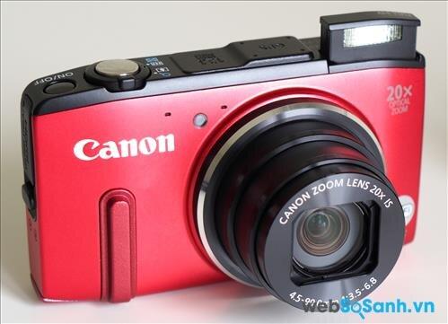 Ống kính của máy ảnh compact Canon PowerShot SX280 HS có tiêu cự 4.5- 90 mm zoom 20x (tương đương ống kính tiêu cự 25- 500 mm trên cảm biến fullframe)