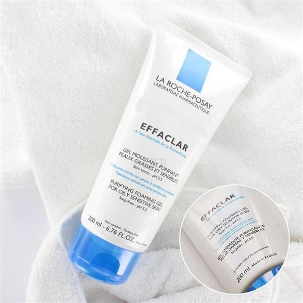 sữa rửa mặt cho da dầu mụn La Roche Posay Effaclar gel