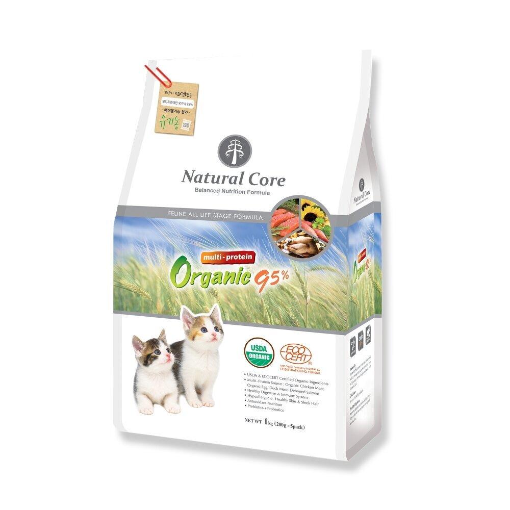 Thức ăn giàu đạm cho mèo 95% Natural Core - 1kg