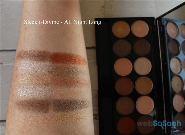 Giới thiệu bảng mắt giá rẻ SLEEK I-DIVINE PALETTES - A new day & All Night long